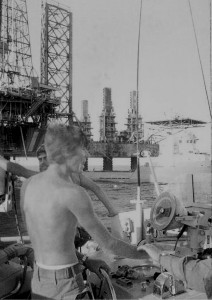 Alma 2 Oil rig at Ras Garra 1977
